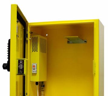 defibstore 2000 aed cabinet locked ajar