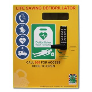 DEFIBSTORE 2000 AED Cabinet (Lockable with electrics)