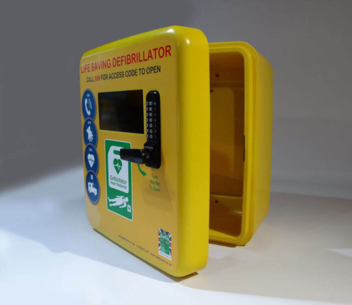 defibstore 4000 aed cabinet locked door open