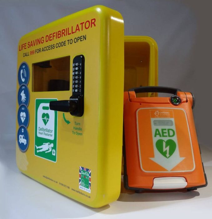 defibstore 4000 aed cabinet locked with G5