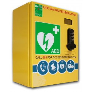 DEFIBSTORE 3000 Stainless-Steel AED cabinet, (Lockable with electrics)