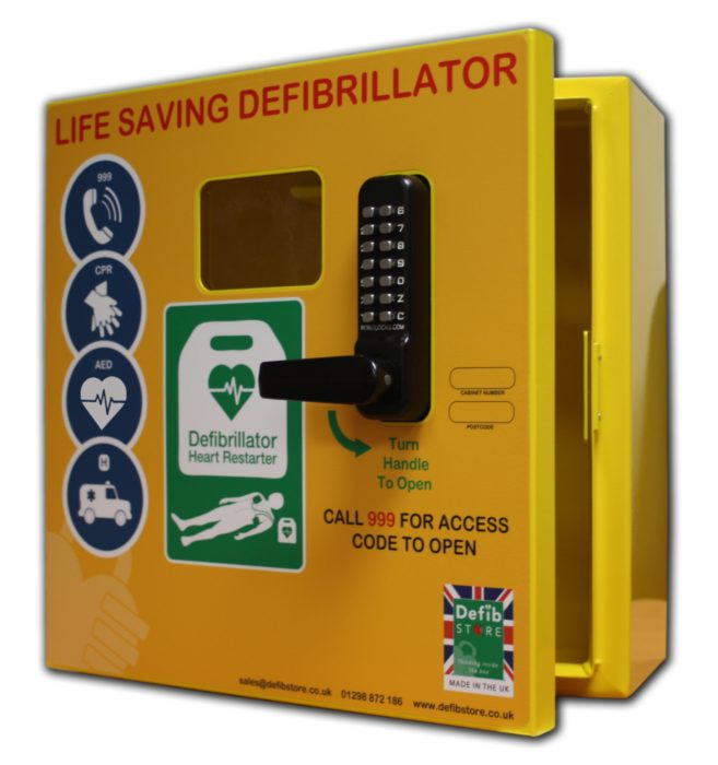 DEFIBSTORE 1000 AED Cabinet (Lockable with electrics)
