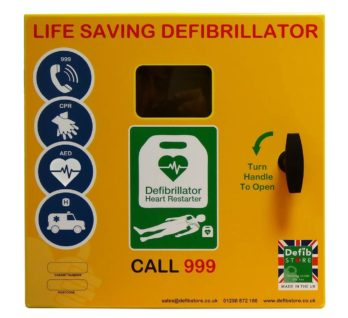 DEFIBSTORE Weatherproof 1000 AED Cabinet (Unlocked with electrics)